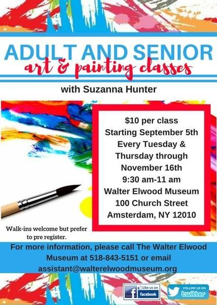 Adult & Senior Art and Painting Class 9/5-11/16